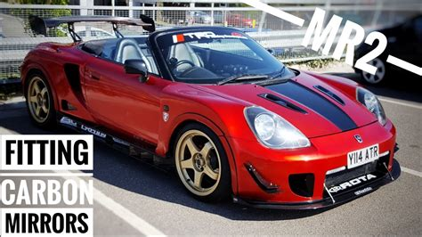 f1 style carbon mirrors - MR2 Spyder / roadster - YouTube