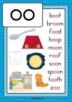 OO Vowel Digraph Games-Activities-Worksheets by Lavinia