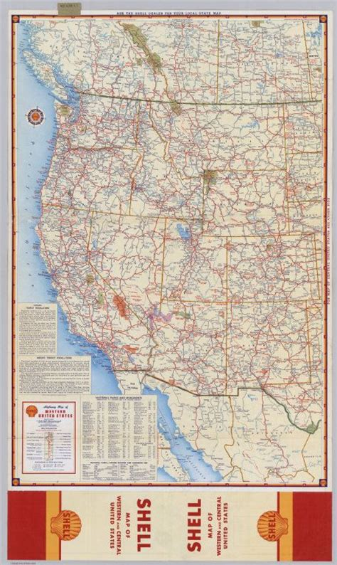 Shell Highway Map of Western United States