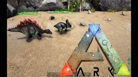 ARK Survival Evolved Gameplay: Baby Stego and Trike!!! [Ep