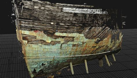 3D scans preserve historical ship Edwin Fox for a new