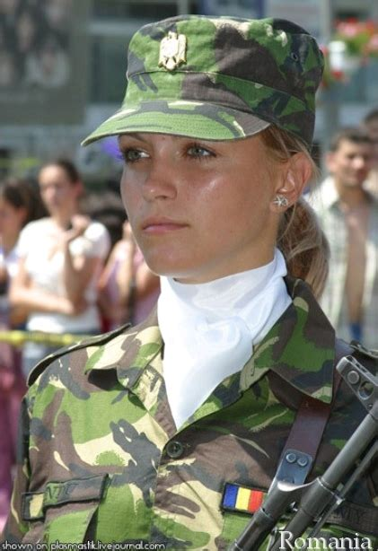 Romanian female soldier image - Females In Uniform (Lovers