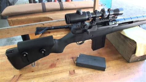 M14 rifle in 7