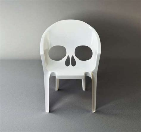 Scary Skull Seating : Remember You Will Die Chair