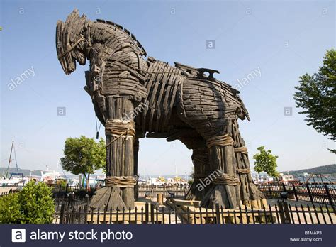 The wooden horse from the film Troy at Canakkale near Troy