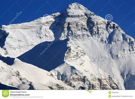 North Face Of Mount Everest Stock Image - Image of