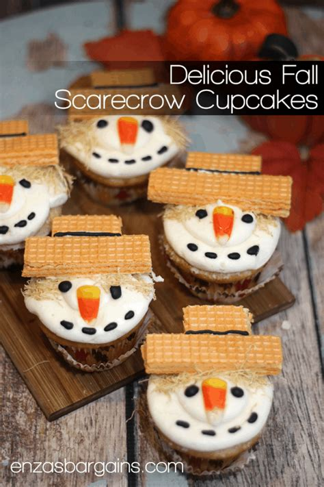 Scarecrow Cupcakes Recipe - The cutest little fall table