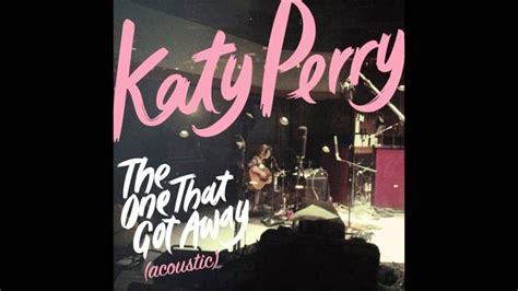 Katy Perry - The One That Got Away (Acoustic) Karaoke