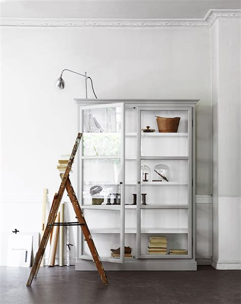 decorating with glass display cabinets / sfgirlbybay