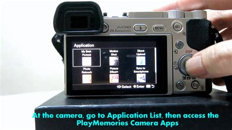 Sony A6000- How to redeem and install Sony PlayMemories