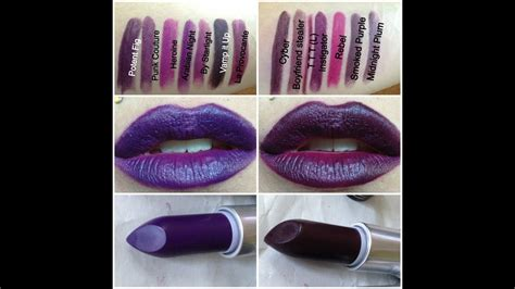 MAC Punk Couture Lipsticks Review lip swatches - YouTube