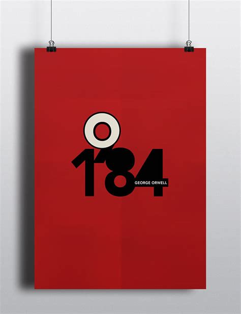1984 Minimal Book Cover/Poster on Behance